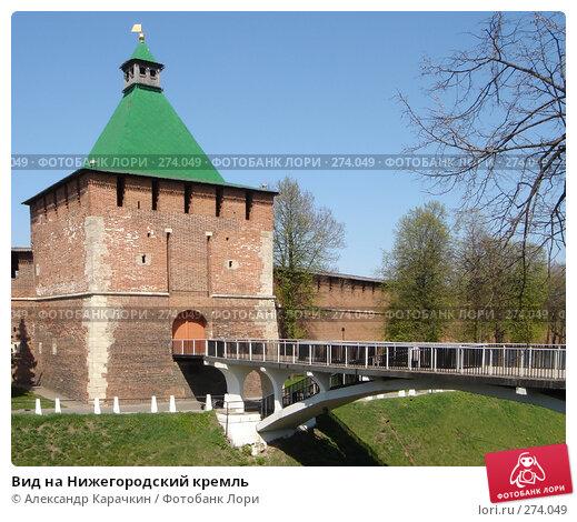 Вид на Нижегородский кремль, фото № 274049, снято 21 февраля 2017 г. (c) Александр Карачкин / Фотобанк Лори
