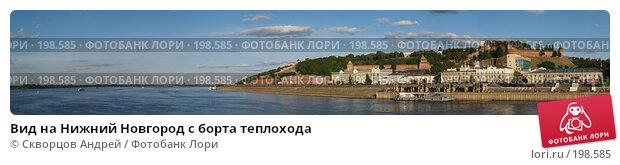 Вид на Нижний Новгород с борта теплохода, фото № 198585, снято 24 января 2017 г. (c) Скворцов Андрей / Фотобанк Лори