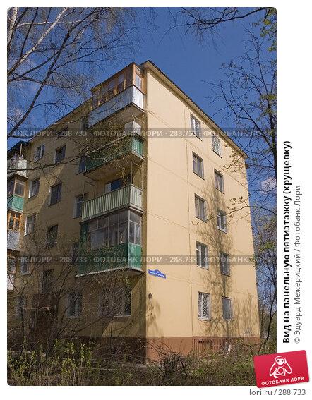 Купить «Вид на панельную пятиэтажку (хрущевку)», фото № 288733, снято 23 апреля 2008 г. (c) Эдуард Межерицкий / Фотобанк Лори