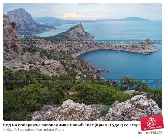 Вид на побережье заповедника Новый Свет (Крым, Судак) со стороны можевеловой рощи, фото № 156697, снято 9 июня 2006 г. (c) Юрий Брыкайло / Фотобанк Лори