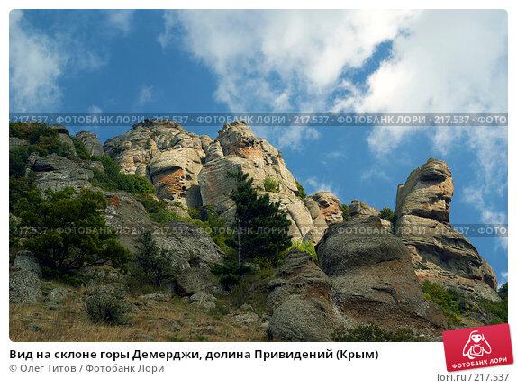 Вид на склоне горы Демерджи, долина Привидений (Крым), фото № 217537, снято 13 сентября 2006 г. (c) Олег Титов / Фотобанк Лори