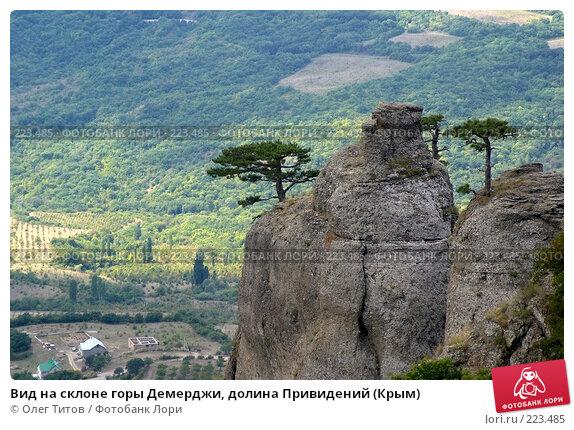 Вид на склоне горы Демерджи, долина Привидений (Крым), фото № 223485, снято 13 сентября 2006 г. (c) Олег Титов / Фотобанк Лори