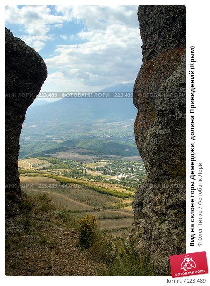 Вид на склоне горы Демерджи, долина Привидений (Крым), фото № 223489, снято 21 февраля 2017 г. (c) Олег Титов / Фотобанк Лори