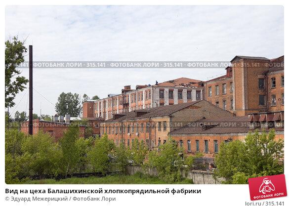 Вид на цеха Балашихинской хлопкопрядильной фабрики, фото № 315141, снято 29 мая 2008 г. (c) Эдуард Межерицкий / Фотобанк Лори