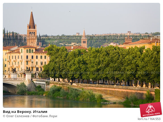 Вид на Верону. Италия, фото № 164553, снято 7 мая 2007 г. (c) Олег Селезнев / Фотобанк Лори
