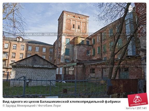 Вид одного из цехов Балашихинской хлопкопрядильной фабрики, фото № 297141, снято 23 апреля 2008 г. (c) Эдуард Межерицкий / Фотобанк Лори