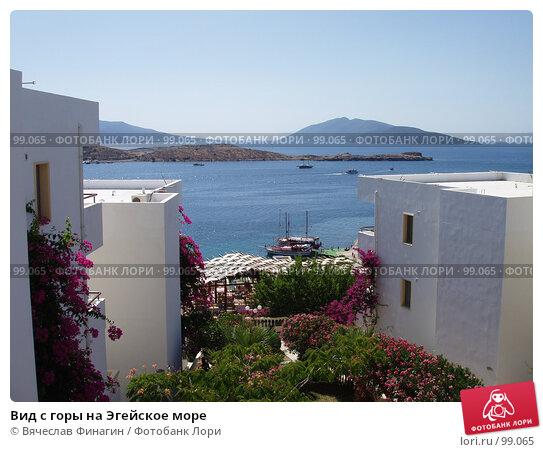 Вид с горы на Эгейское море, фото № 99065, снято 7 июля 2006 г. (c) Вячеслав Финагин / Фотобанк Лори