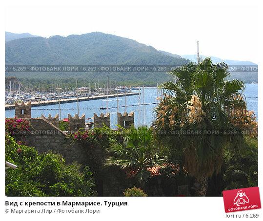 Вид с крепости в Мармарисе. Турция, фото № 6269, снято 12 июля 2006 г. (c) Маргарита Лир / Фотобанк Лори