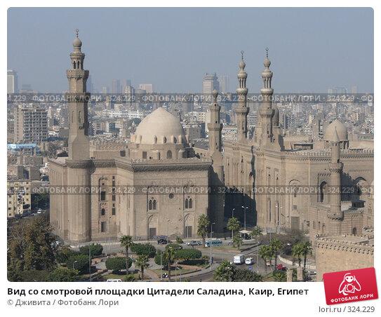 Вид со смотровой площадки Цитадели Саладина, Каир, Египет, фото № 324229, снято 7 января 2008 г. (c) Дживита / Фотобанк Лори