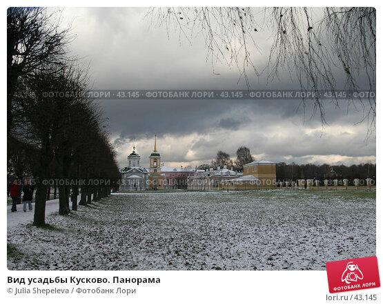 Купить «Вид усадьбы Кусково. Панорама», фото № 43145, снято 5 ноября 2006 г. (c) Julia Shepeleva / Фотобанк Лори