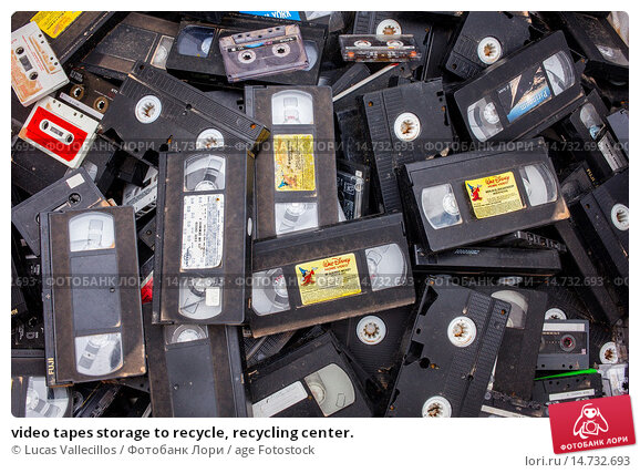 Купить «video tapes storage to recycle, recycling center.», фото № 14732693, снято 18 июня 2019 г. (c) age Fotostock / Фотобанк Лори