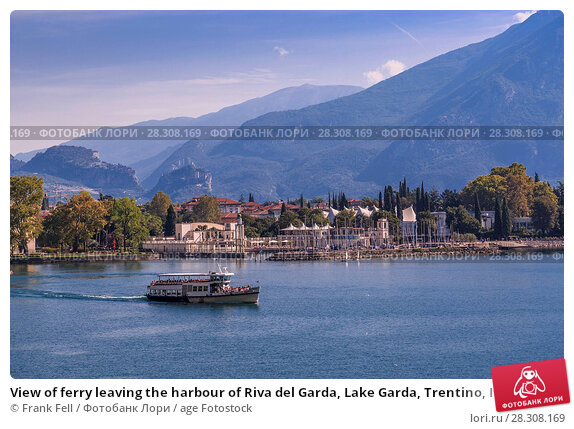 Купить «View of ferry leaving the harbour of Riva del Garda, Lake Garda, Trentino, Italian Lakes, Italy, Europe», фото № 28308169, снято 18 августа 2017 г. (c) age Fotostock / Фотобанк Лори