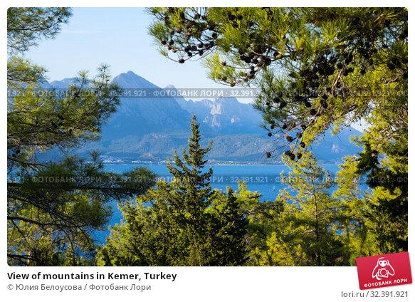 Купить «View of mountains in Kemer, Turkey», фото № 32391921, снято 21 октября 2017 г. (c) Юлия Белоусова / Фотобанк Лори