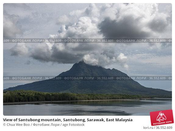 View of Santubong mountain, Santubong, Sarawak, East Malaysia. Стоковое фото, фотограф Chua Wee Boo / age Fotostock / Фотобанк Лори