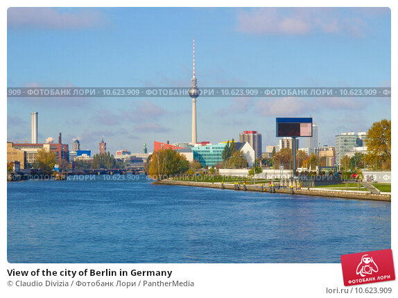 View of the city of Berlin in Germany. Стоковое фото, фотограф Claudio Divizia / PantherMedia / Фотобанк Лори