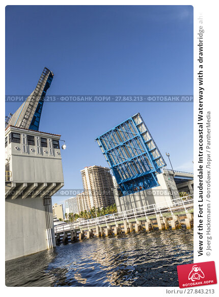 Купить «View of the Fort Lauderdale Intracoastal Waterway with a drawbridge ahead», фото № 27843213, снято 20 октября 2018 г. (c) PantherMedia / Фотобанк Лори