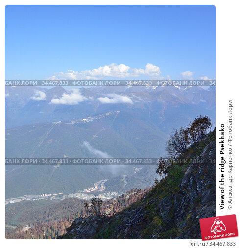 View of the ridge Psekhako. Стоковое фото, фотограф Александр Карпенко / Фотобанк Лори