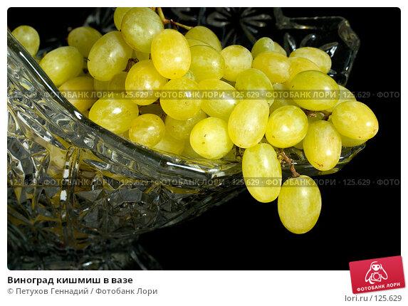 Виноград кишмиш в вазе, фото № 125629, снято 5 ноября 2007 г. (c) Петухов Геннадий / Фотобанк Лори