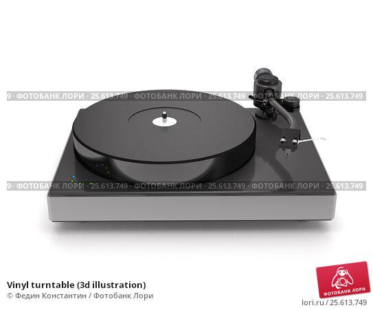 Купить «Vinyl turntable (3d illustration)», иллюстрация № 25613749 (c) Федин Константин / Фотобанк Лори
