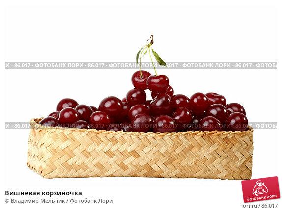 Вишневая корзиночка, фото № 86017, снято 17 июля 2007 г. (c) Владимир Мельник / Фотобанк Лори