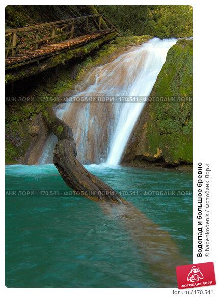 Купить «Водопад и большое бревно», фото № 170541, снято 5 января 2007 г. (c) Бабенко Денис Юрьевич / Фотобанк Лори