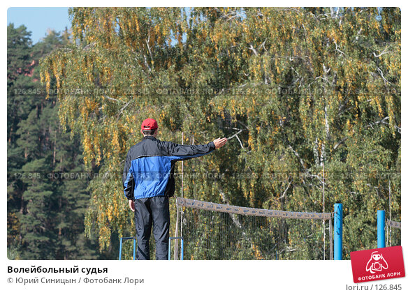 Купить «Волейбольный судья», фото № 126845, снято 22 сентября 2007 г. (c) Юрий Синицын / Фотобанк Лори