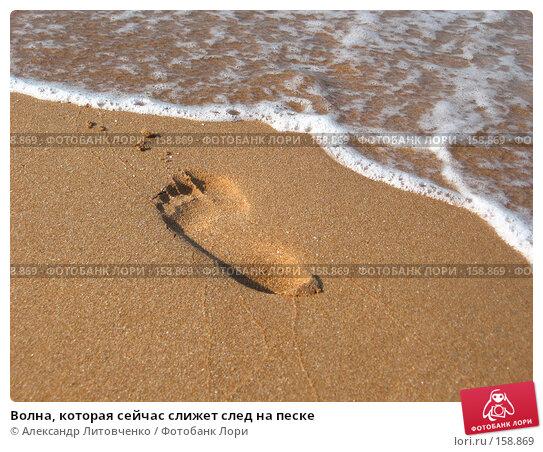 Волна, которая сейчас слижет след на песке, фото № 158869, снято 12 сентября 2007 г. (c) Александр Литовченко / Фотобанк Лори