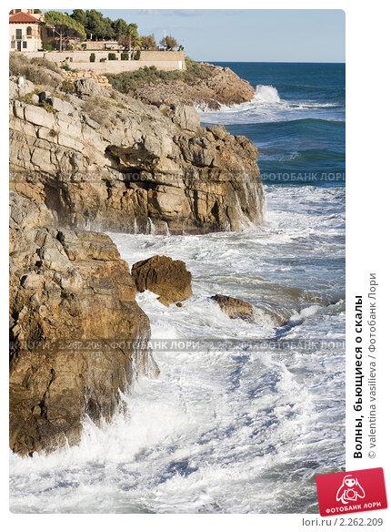 Купить «Волны, бьющиеся о скалы», фото № 2262209, снято 24 февраля 2019 г. (c) valentina vasilieva / Фотобанк Лори