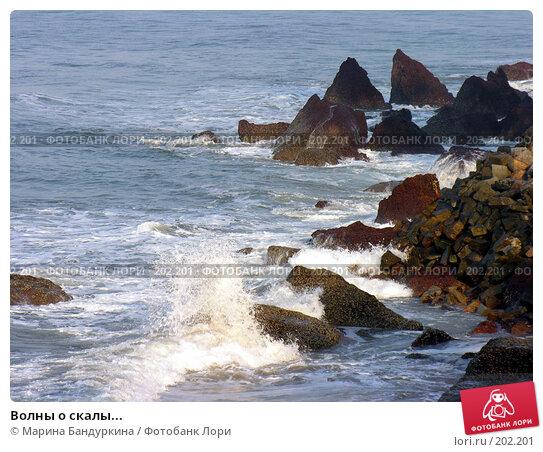 Волны о скалы..., фото № 202201, снято 14 ноября 2004 г. (c) Марина Бандуркина / Фотобанк Лори