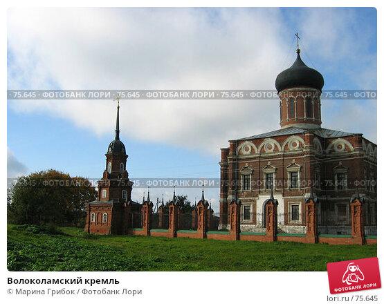 Купить «Волоколамский кремль», фото № 75645, снято 30 сентября 2006 г. (c) Марина Грибок / Фотобанк Лори