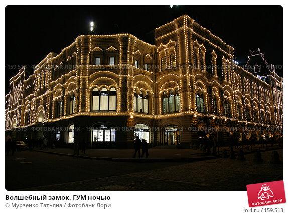Волшебный замок. ГУМ ночью, фото № 159513, снято 14 декабря 2006 г. (c) Мурзенко Татьяна / Фотобанк Лори