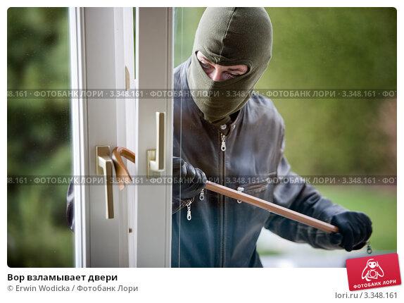 Купить «Вор взламывает двери», фото № 3348161, снято 20 марта 2019 г. (c) Erwin Wodicka / Фотобанк Лори