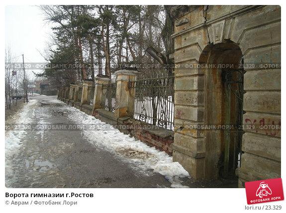 Купить «Ворота гимназии г.Ростов», фото № 23329, снято 10 марта 2007 г. (c) Аврам / Фотобанк Лори