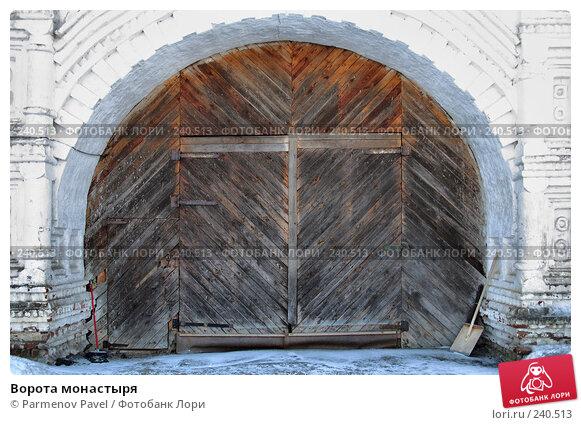 Ворота монастыря, фото № 240513, снято 24 февраля 2008 г. (c) Parmenov Pavel / Фотобанк Лори