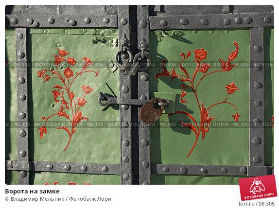 Ворота на замке, фото № 98305, снято 12 февраля 2007 г. (c) Владимир Мельник / Фотобанк Лори