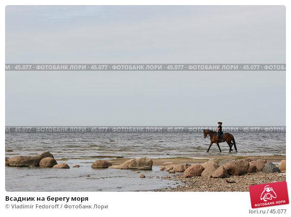 Всадник на берегу моря, фото № 45077, снято 20 мая 2007 г. (c) Vladimir Fedoroff / Фотобанк Лори