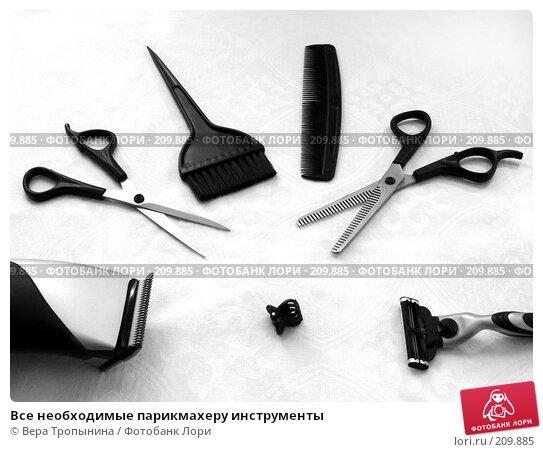 Все необходимые парикмахеру инструменты, фото № 209885, снято 19 февраля 2008 г. (c) Вера Тропынина / Фотобанк Лори