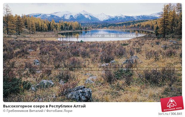 Высокогорное озеро в Республике Алтай, фото № 306841, снято 25 марта 2017 г. (c) Гребенников Виталий / Фотобанк Лори