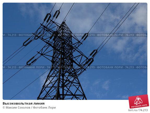 Высоковольтная линия, фото № 74213, снято 12 апреля 2007 г. (c) Максим Соколов / Фотобанк Лори