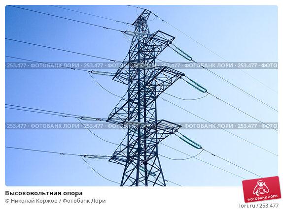 Купить «Высоковольтная опора», фото № 253477, снято 29 февраля 2008 г. (c) Николай Коржов / Фотобанк Лори