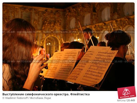 Выступление симфонического оркестра. Флейтистка, фото № 20449, снято 28 декабря 2006 г. (c) Vladimir Fedoroff / Фотобанк Лори