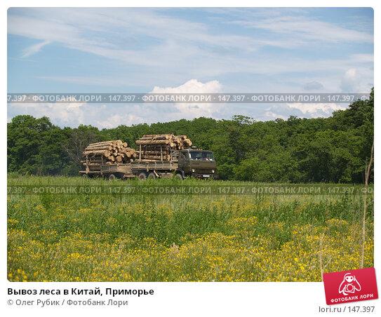 Вывоз леса в Китай, Приморье, фото № 147397, снято 2 июля 2007 г. (c) Олег Рубик / Фотобанк Лори