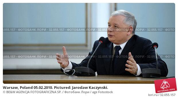 Warsaw, Poland 05.02.2010. Pictured: Jaroslaw Kaczynski. Редакционное фото, фотограф BE&W AGENCJA FOTOGRAFICZNA SP. / age Fotostock / Фотобанк Лори