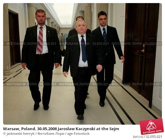 Warsaw, Poland. 30.05.2008 Jaroslaw Kaczynski at the Sejm. Редакционное фото, фотограф jackowski henryk / age Fotostock / Фотобанк Лори