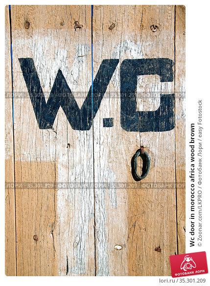 Wc door in morocco africa wood brown. Стоковое фото, фотограф Zoonar.com/LKPRO / easy Fotostock / Фотобанк Лори