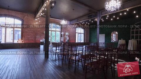 Купить «Wedding ceremony decoration indoors», видеоролик № 25795017, снято 14 марта 2016 г. (c) Алексей Макаров / Фотобанк Лори