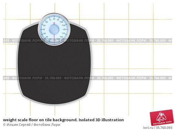weight scale floor on tile background. Isolated 3D illustration. Стоковая иллюстрация, иллюстратор Ильин Сергей / Фотобанк Лори