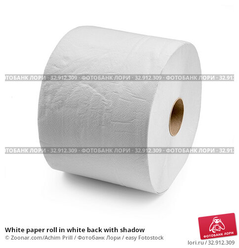 White paper roll in white back with shadow. Стоковое фото, фотограф Zoonar.com/Achim Prill / easy Fotostock / Фотобанк Лори