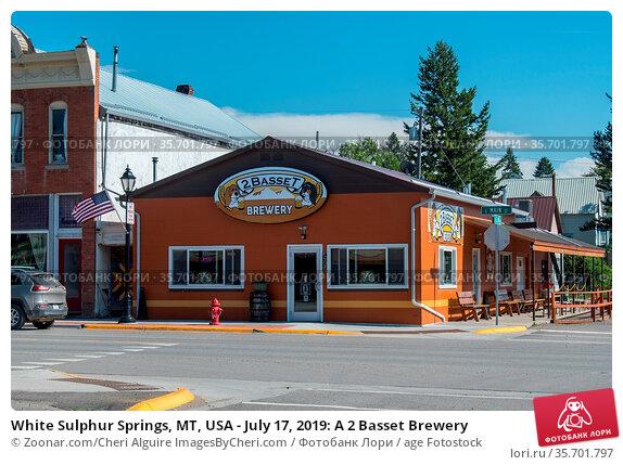 White Sulphur Springs, MT, USA - July 17, 2019: A 2 Basset Brewery. Стоковое фото, фотограф Zoonar.com/Cheri Alguire ImagesByCheri.com / age Fotostock / Фотобанк Лори