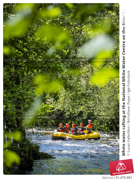 Купить «White water rafting at the National White Water Centre on the River Tryweryn, near Bala, Wales.», фото № 31470881, снято 23 января 2020 г. (c) age Fotostock / Фотобанк Лори